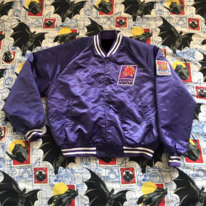 Vintage Phoenix Suns Chalkline Satin Bomber Jacket