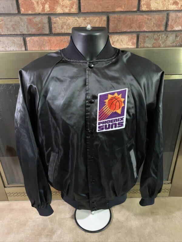 Vintage Phoenix Suns NBA Basketball Satin Snap Jacket