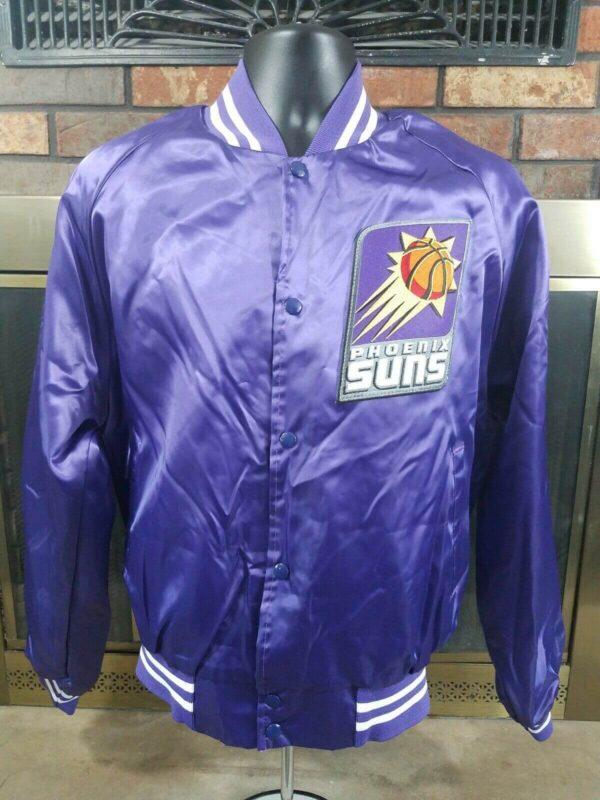 Vintage Phoenix Suns Purple NBA Basketball Satin Jacket