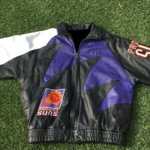 Vintage Phoenix Suns Shark Tooth Leather Jacket