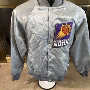 Vintage Phoenix Suns Silver NBA Basketball Satin Jacket