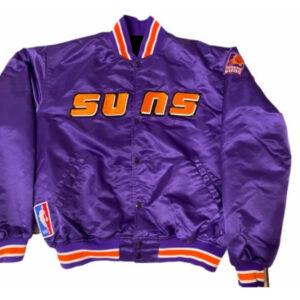 Vintage Purple NBA Phoenix Suns Satin Bomber Jacket