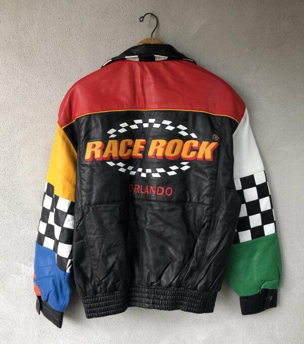 Vintage Race Rock Orlando Leather Jacket