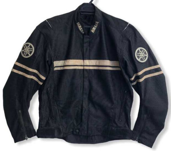 Vintage Yamaha Motorcycle Black Textile Jacket
