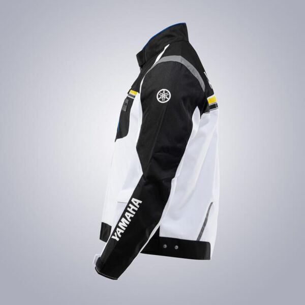 White Black Yamaha Motorcycle Racing Textile Jacket