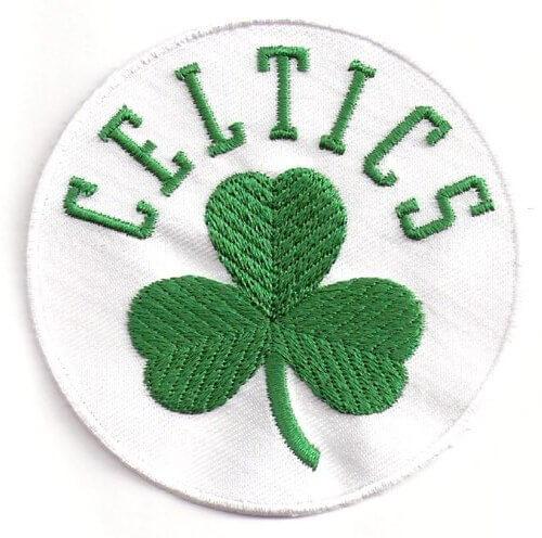 White Boston Celtics Alternate Team Logo Patch