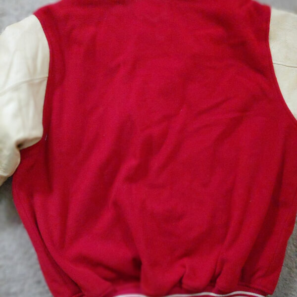 White Red MLB Boston Red Sox Wool Leather Jacket