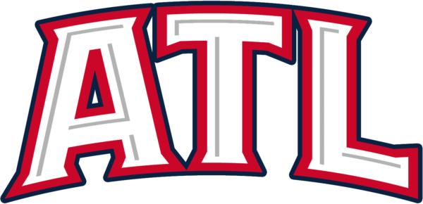 White Red NBA Atlanta Hawks Alternate Logo Patch