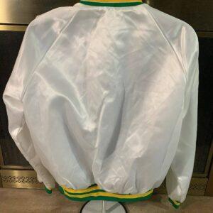 White Utah Jazz NBA Basketball Satin Varsity Jacket