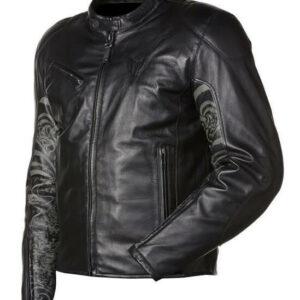 Yamaha Black Motorcycle Leather Jacket