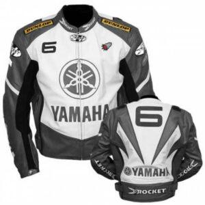 Yamaha Joe Rocket Gray Motorcycle Racing Leather Jacket