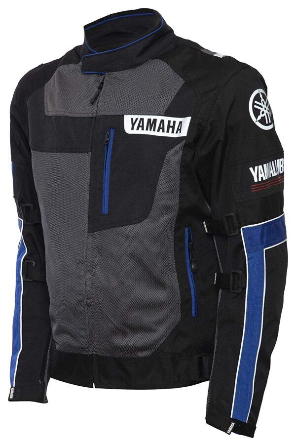 Yamaha Motorcycle Black And Blue Textile Jacket
