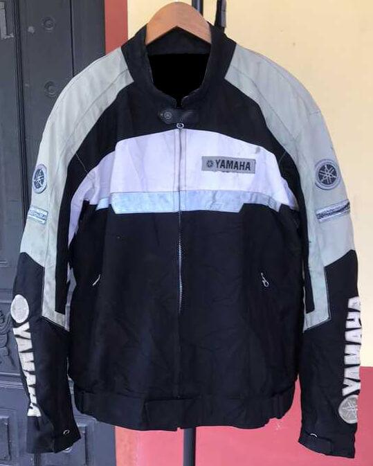 Yamaha Motorcycle Black And Gray Textile Jacket