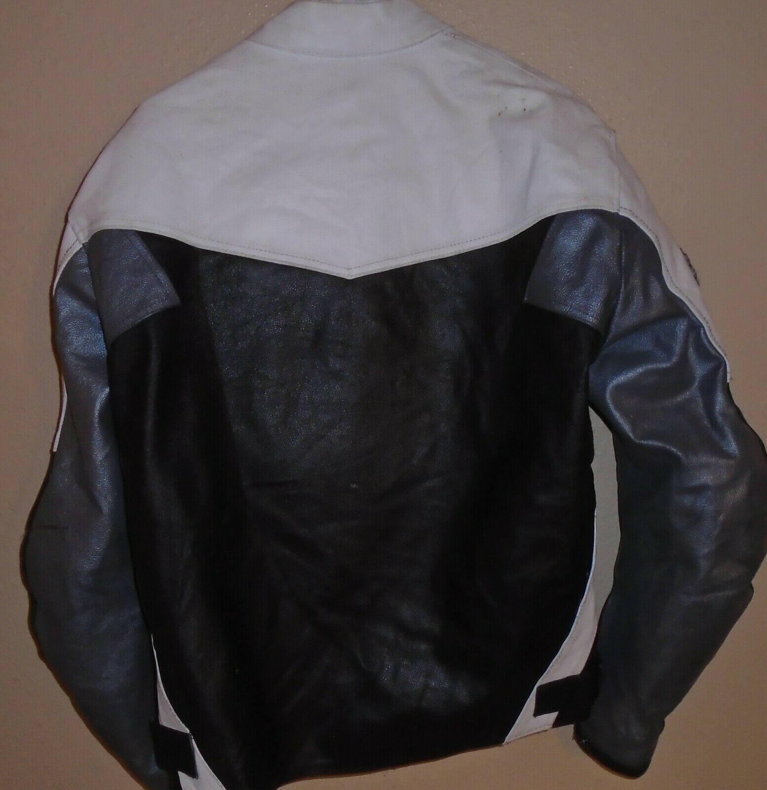 Yamaha Motorcycle Black And White Racing Leather Jacket