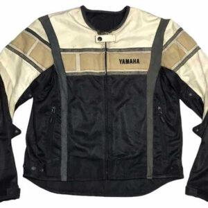 Yamaha Motorcycle Black And White Racing Textile Jacket