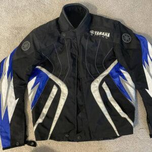 Yamaha Motorcycle Black And White Textile Jacket