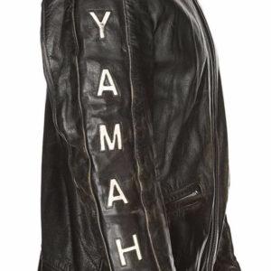 Yamaha Motorcycle Black Biker Leather Jacket