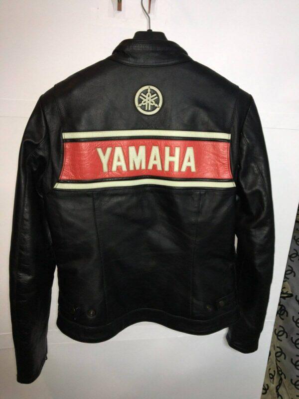 Yamaha Motorcycle Black Racing Leather Jacket
