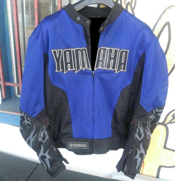 Yamaha Motorcycle Blue And Black Racing Textile Jacket