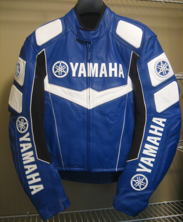 Yamaha Motorcycle Blue Racing Leather Jacket