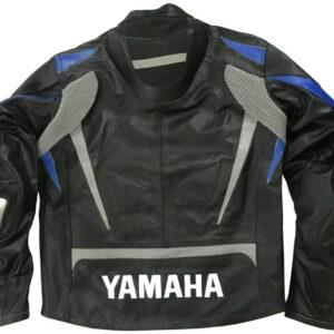 Yamaha Motorcycle Racing Black Leather Jacket