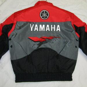 Yamaha Motorcycle Red And Gray Textile Jacket