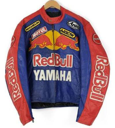 Yamaha Motorcycle Red Bull Racing Leather Jacket