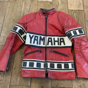 Yamaha Motorcycle Red Racing Leather Jacket