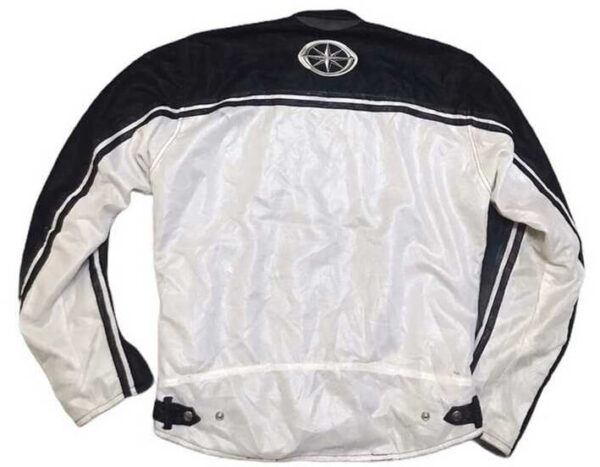 Yamaha Motorcycle White And Black Textile Jacket
