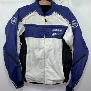 Yamaha Motorcycle White And Blue Textile Jacket
