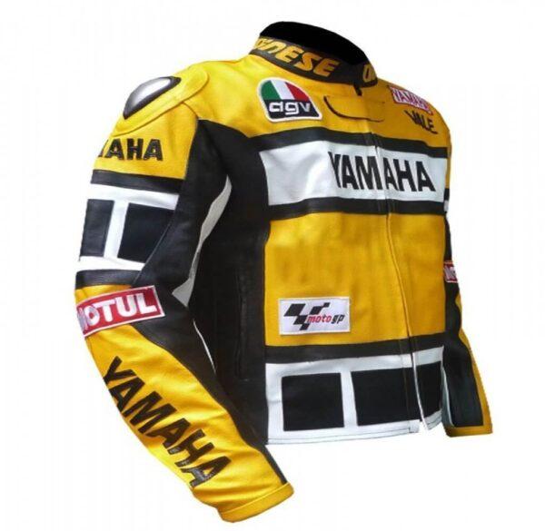 Yamaha Motorcycle Yellow And Black Leather Jacket