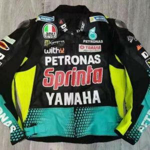 Yamaha Petronas Motorcycle Racing Leather Jacket