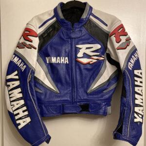 Yamaha R Motorcycle Racing Leather Jacket