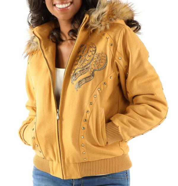 Yellow Pelle Pelle Born And Raised Hooded Jacket