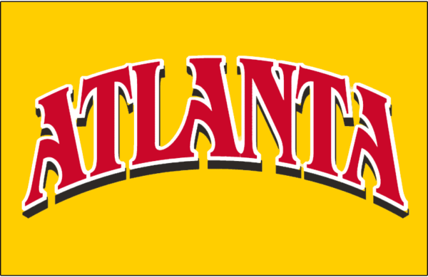 Yellow Red NBA Atlanta Hawks Alternate Logo Patch