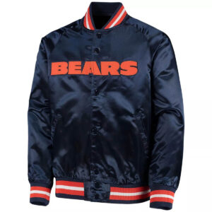 Youth Navy Chicago Bears Lightweight Satin Jacket
