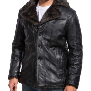 Men's Black Fur Jacket
