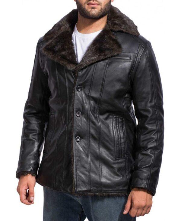 Men's Black Fur Jacket