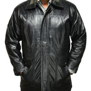 Men's Black Military Coat Jacket