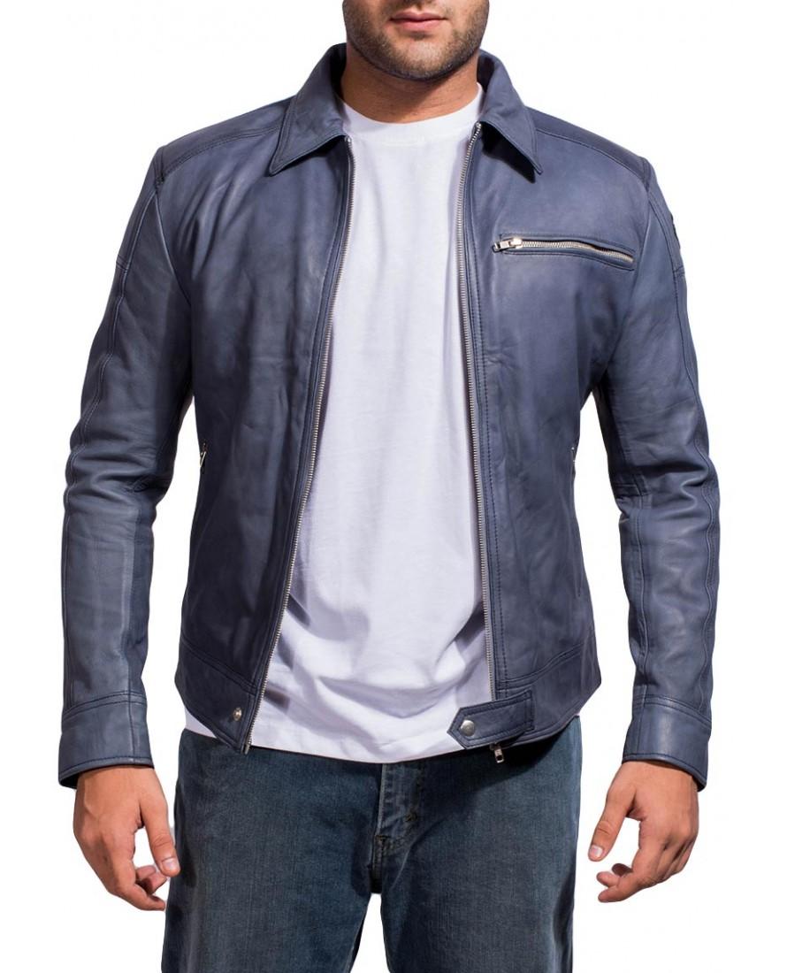 Navy Blue Racer Jacket Jackets Maker