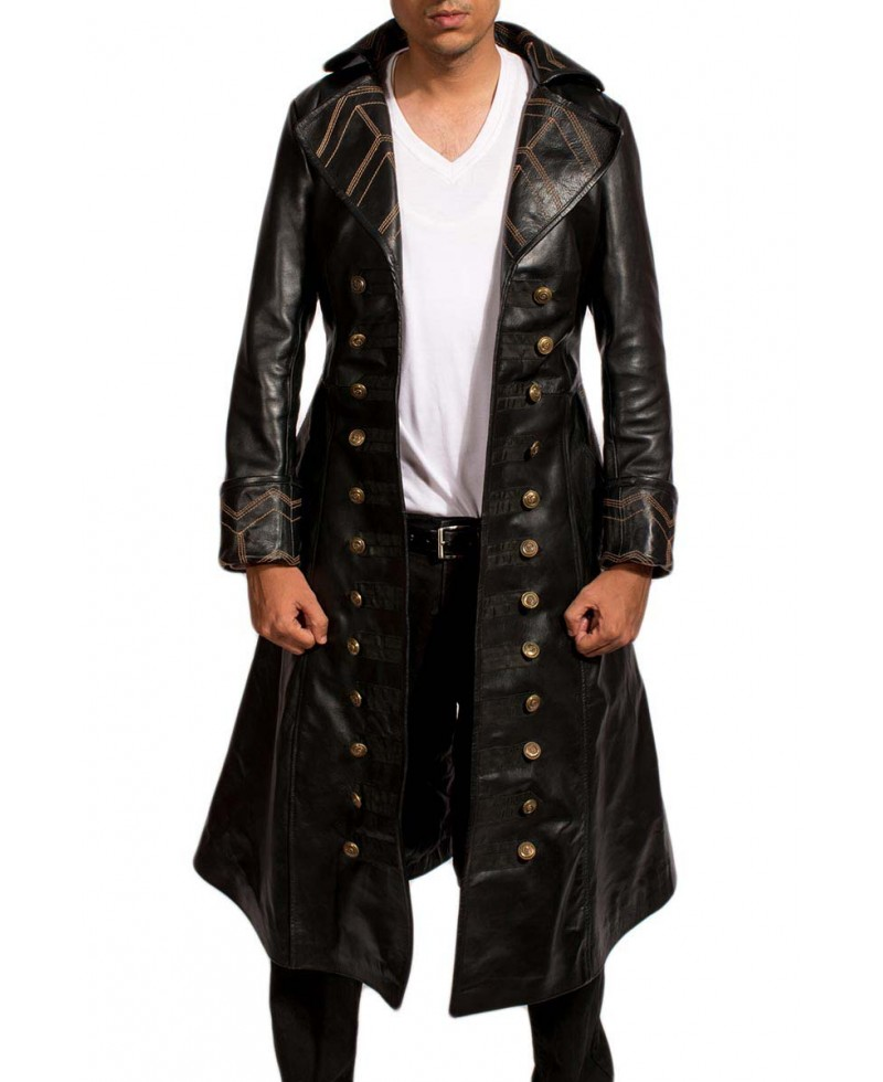 Leather long jackets