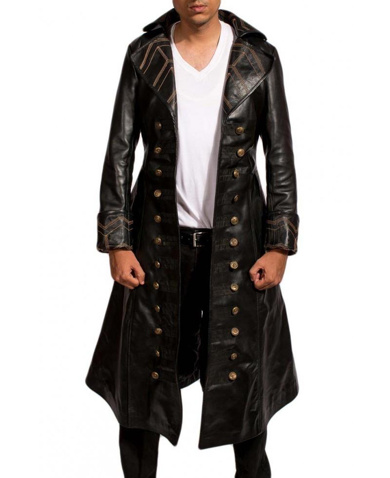 Pirate Black Long Coat – Jackets Maker