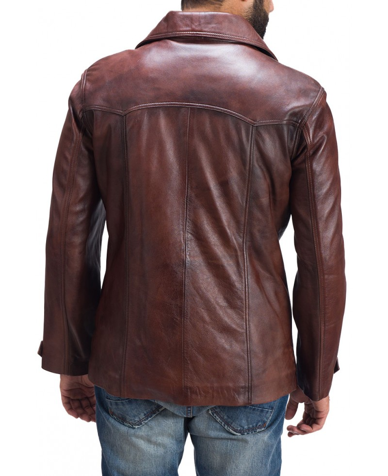 Men's Brown Vintage Leather Coat – Jackets Maker