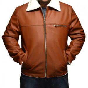 Tan Brown Faux Shearling Jacket