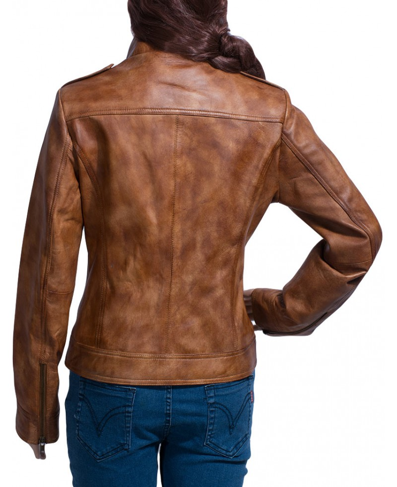 Ethereal Brown Leather Jacket – Jackets Maker