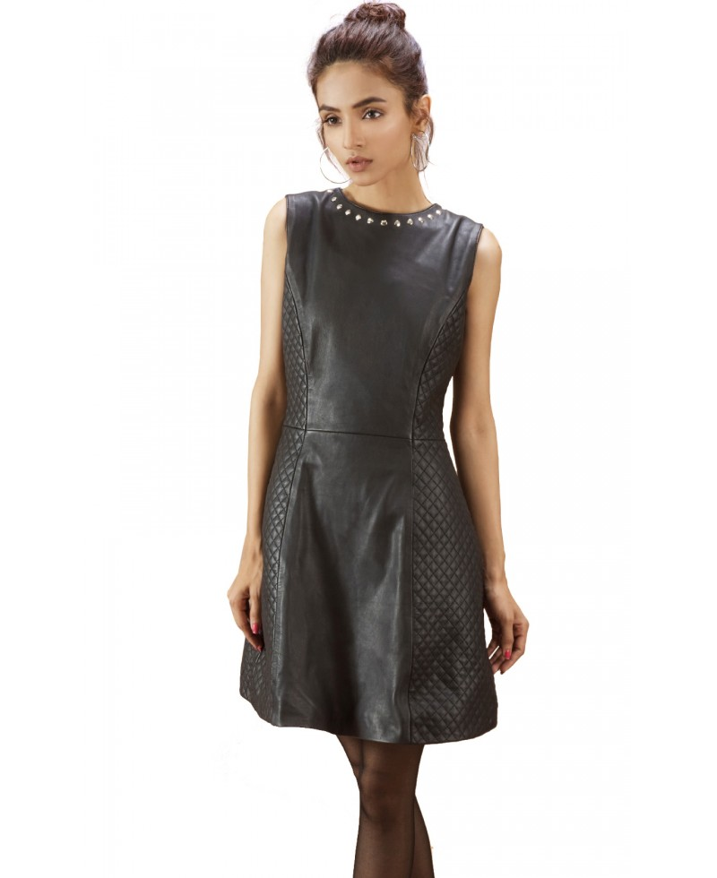 quilted black leather dress jackets maker