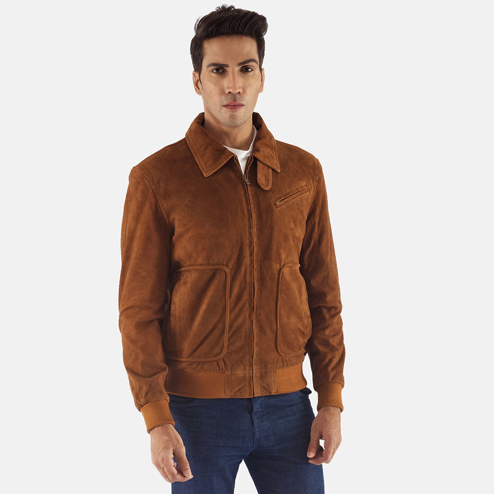 Tomchi Tan Suede Leather Jacket Jackets Maker