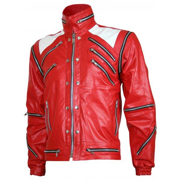 e15fecc4 Michael Jackson Red Leather Beat It Jacket