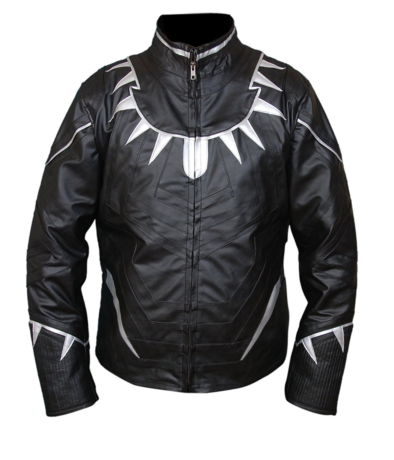 Captain America Civil War Movie Black Panther Leather Jacket - Jackets Maker