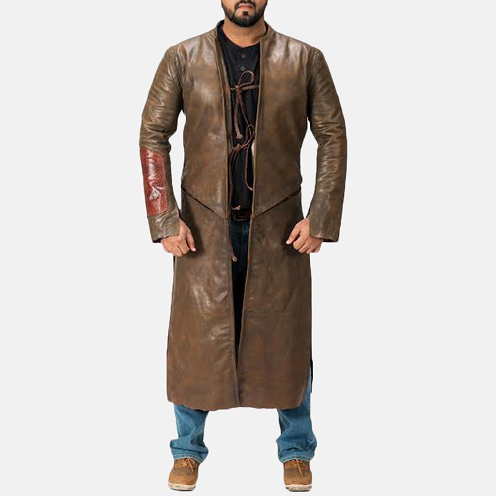 Medieval Brown Leather Coat Jackets Maker